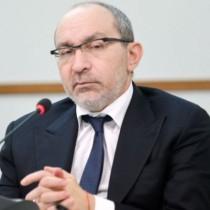 Kharkiv Mayor Hennadii Kernes at a press conference in Kharkiv.